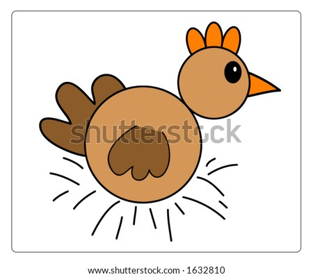 Cute vector chicken, all scalable