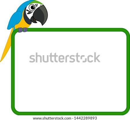 cute vector frame with cartoon