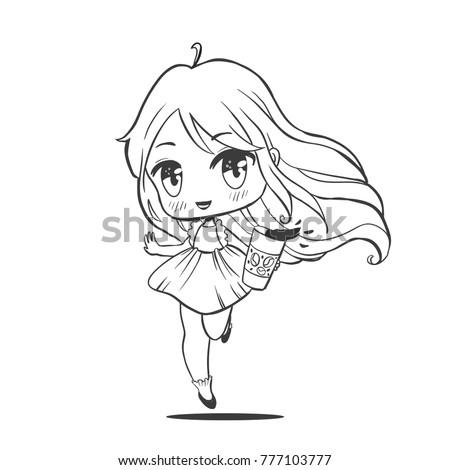 cute vector illustrationake up