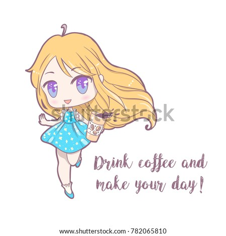 cute vector illustrationake up