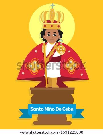 Cute Vector Image of Señor Santo Niño De Cebu Foto stock ©