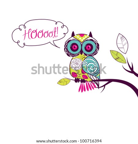 cute vector owl.