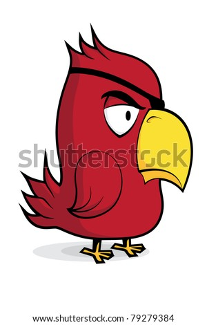 cute vector parrot on white background