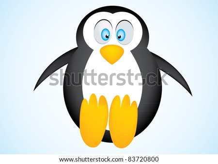 Cute vector penguin