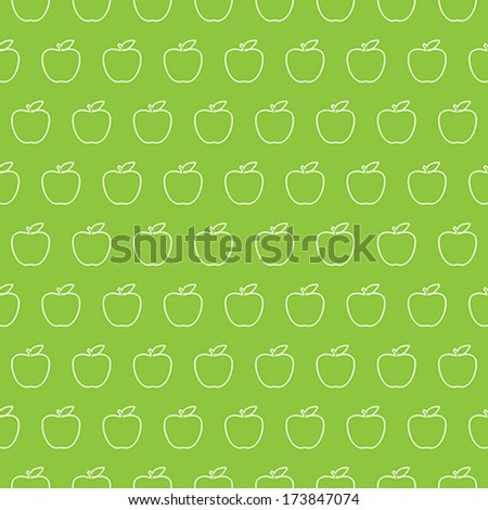Cute Vector Seamless Apple Pattern