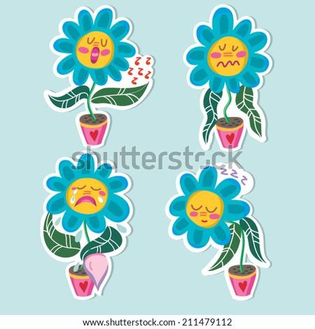 cute vector set of flowers