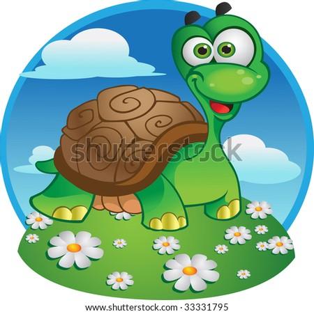 Cute vector tortoise