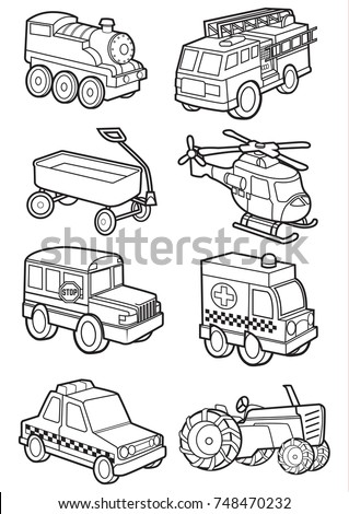 cute vehicle, transportation vector cartoon