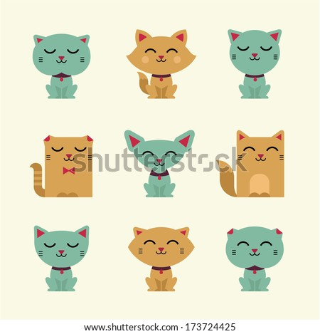 Cute Verctor Cats