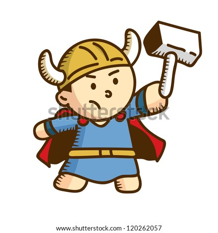 cute viking cartoon