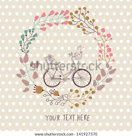 cute vintage background with