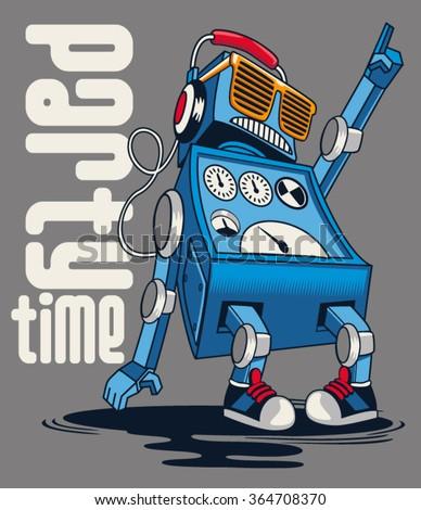 cute vintage dancer robot