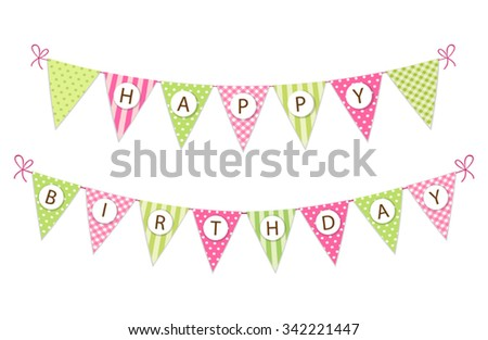 Birthday Flag Banners - Download Free Vector Art, Stock Graphics ...