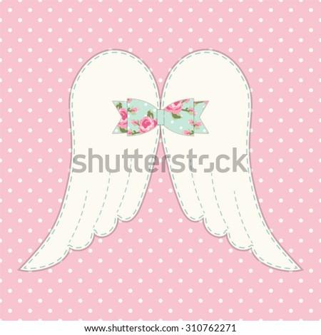 cute vintage patchwork of angel