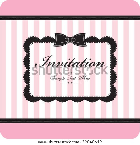 cute & vintage template - stock vector