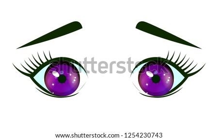 cute violet confused eyes in