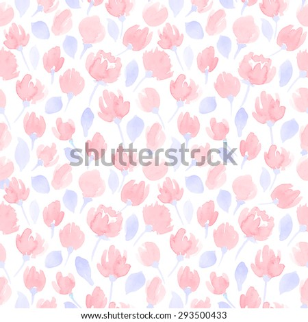 cute watercolor flowers