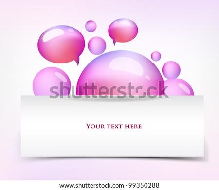 Cute web banner, vector