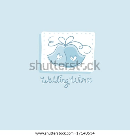 stock vector Cute Wedding Bells