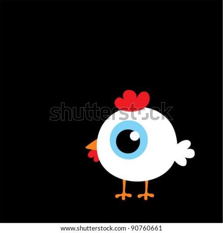 cute white chicken