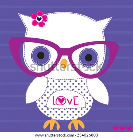Cute White Owl Wallpaper Cute White Owl With Glasses