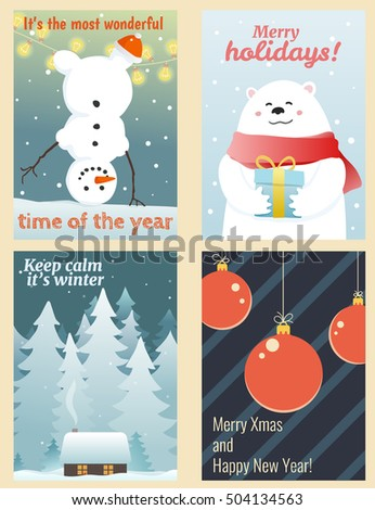 cute winter greetings cards
