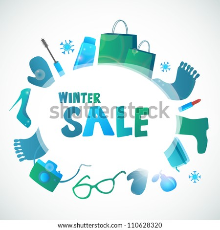 Cute winter sale banner