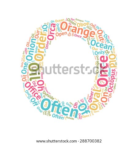 cute word cloud abc letters - series, all the letters from the