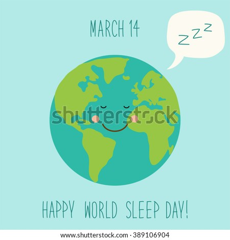 cute world sleep day background