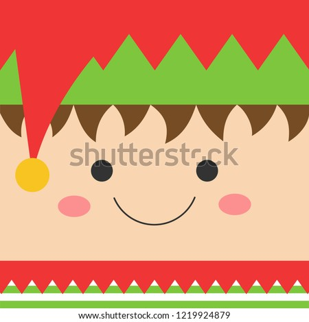 cute xmas elf square head