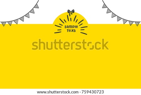 cute yellow doodle  background