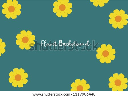 Free vector watercolor pattern with cute yellow flowers download cute yellow flower elegant template for fashion prints printing with orange flowers and green mightylinksfo