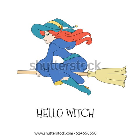 cute young redheaded witch in