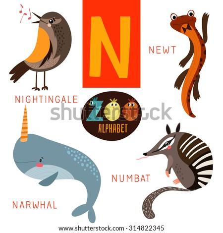 Animal Alphabet N Stock Image - Image: 8448331