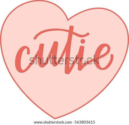 cutie pink conversation heart