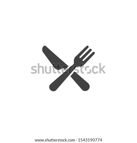 Cutlery and Kitchen Set Icon Design Template Photo stock ©