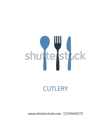 cutlery concept 2 colored icon. Simple blue element illustration. cutlery concept symbol design from Food set. Can be used for web and mobile UI/UX