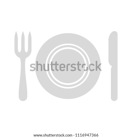 cutlery fork, knife and spoon - restaurant sign symbol, dining set