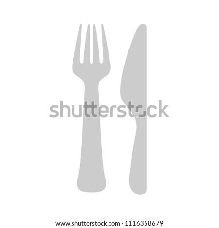 cutlery fork, knife - restaurant Eat sign symbol, dining set