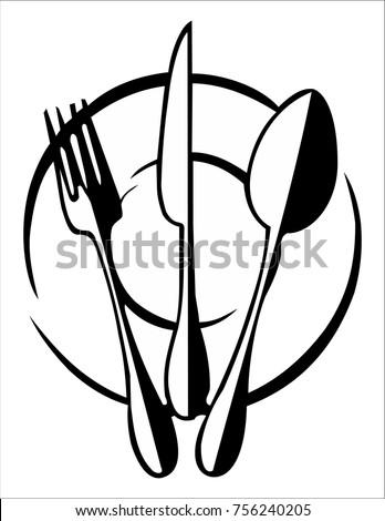 Cutlery logo for multi-purpose use