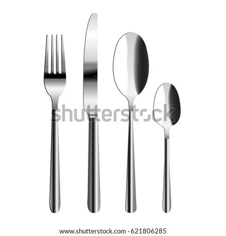 cutlery set gradient mesh ...