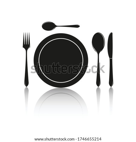cutlery silhouettes spoon