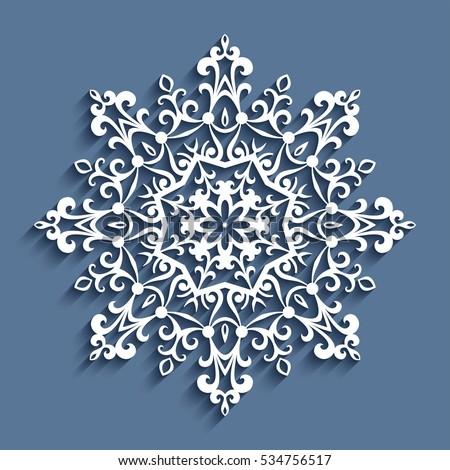 cutout paper lace doily