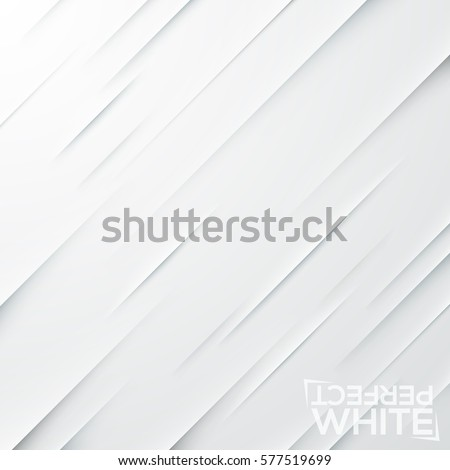 Cuts on white paper. Backdrop with diagonal slits on blank sheet. Decorative square background with realistic geometric elements. Vector illustration for website, wallpaper, textile print, badge.