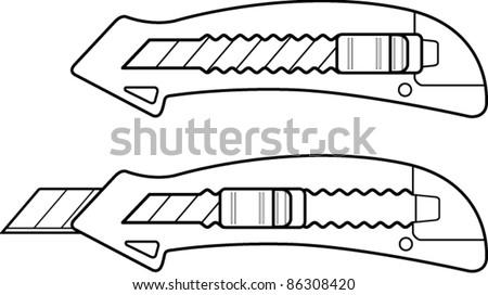 cutter knife line art
