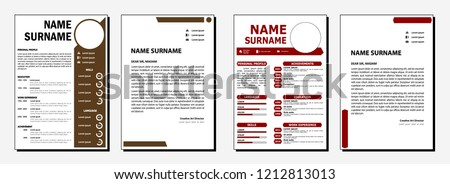 cv chocolate and red mars color template