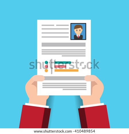 curriculum vitae cv resume employee recruitment data paper work | EZ ...