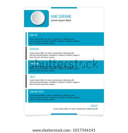 CV Resume template for business illustration vector