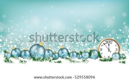 cyan christmas header with snow