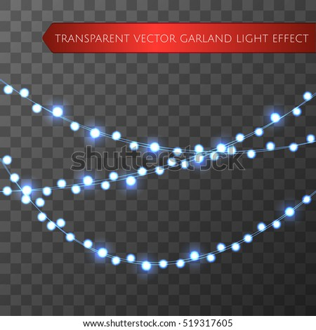 cyan christmas lights isolated